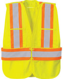 5-Point Vertica`Stripe Tear Away Safety Vest