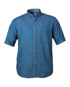 Men's Short Sleeve Denim