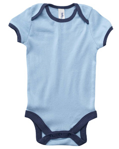Infant  5.8 oz. Short-Sleeve Contrast Two-Tone Ringer One-Piece
