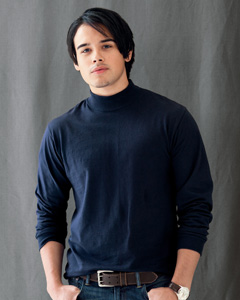 7.1 oz. Long-Sleeve Mock Turtleneck