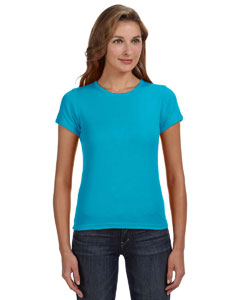 Ladies  1x1 Rib Scoop Neck T-Shirt
