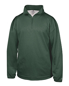 Adult Pro Heathered Fleece 1/4 Zip Sweatshirt
