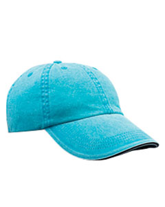 Solid Low-Profile Sandwich Trim Pigment-Dyed Twil`Cap