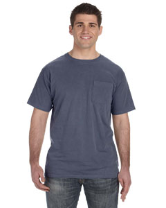 5.6 oz. Pigment-Dyed & Direct-Dyed Ringspun Pocket T-Shirt