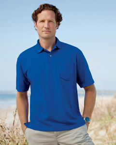 5.3 oz. Jersey Polo with Pocket