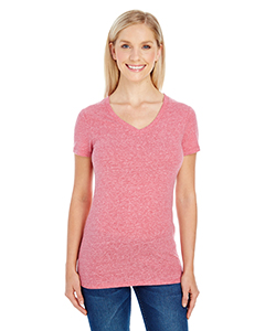Ladies' Triblend Short-Sleeve V-Neck Tee