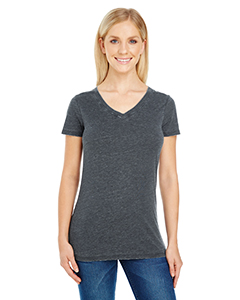 Ladies' Vintage Dye Short-Sleeve V-Neck Tee