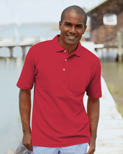 6.8 oz. Cotton Pique Pocket Polo