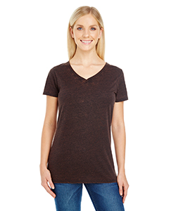 Ladies' Cross Dye Short Sleeve V-Neck Tee