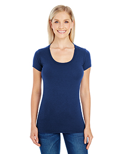 Ladies' Spandex Short-Sleeve Scoop Neck Tee