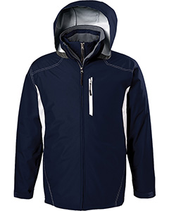 Adult Polyester Full Zip Hooded Interval Jacket