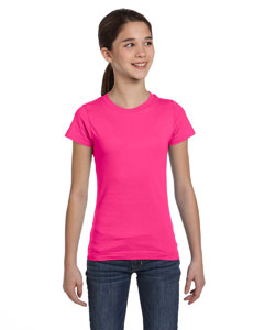 Girls  Fine Jersey Longer Length T-Shirt