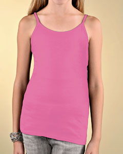 Girls Fine Jersey Spaghetti Strap Longer Length Tank