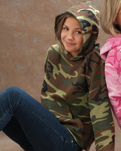 Youth  Camouflage Hooded Sweatshirt