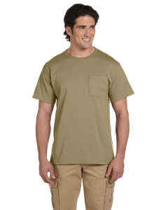 5.6 oz. 50/50 Heavyweight Blend Pocket T-Shirt