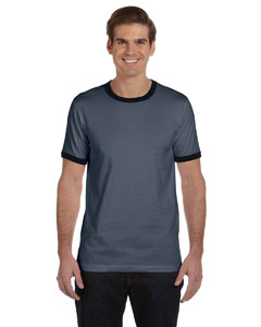 Men's  4.2 oz. Heather Ringer Jersey T-Shirt