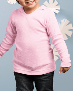 cfac34cb2 Toddler Therma`Hooded V-Neck Long Sleeve T-Shirt- Factory Direct ...