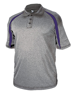 Adult Fusion Three Button Polyester Polo Shirt