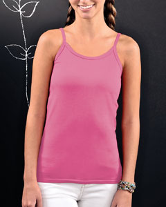Juniors Fine Jersey Spaghetti Strap Longer Length Tank