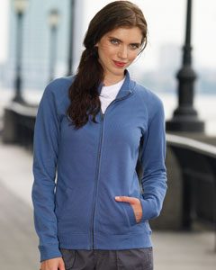 Ladies  French Terry Raglan-Sleeve Cadet Jacket