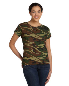 a4a1f35852c8 Ladies Fine Jersey Camouflage T-Shirt- Factory Direct Shirts ...