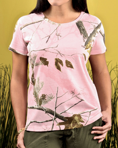 Ladies Officially Licensed REALTREE® Camouflage Short Sleeve