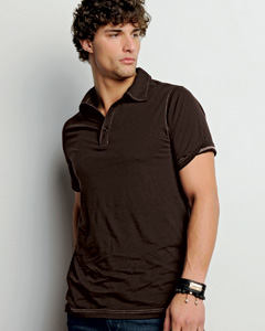 Men's  4.2 oz. Short-Sleeve Three-Button Jersey Polo