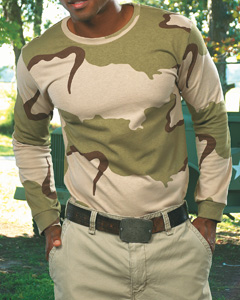 Adult Camouflage Long Sleeve T-Shirt
