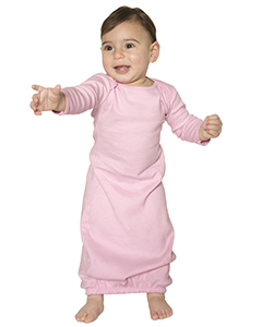 Infant Baby Rib Long Sleeve Gown T-Shirt