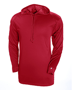 Adult B-Core Long-Sleeve Performance Hooded Tee