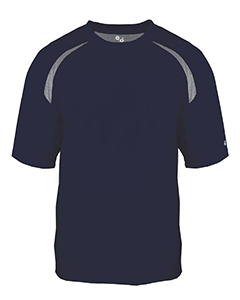 Adult Short-Sleeve Performance Tee with Heather Shoulder Inserts