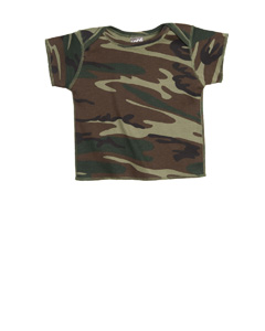 Infant Baby Rib Camouflage Lap Shoulder T-Shirt