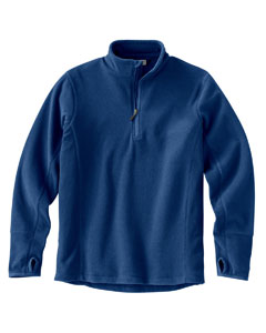 Men's Quarter Zip Drop-Needle Microfleece Pullover