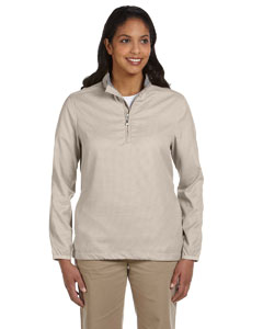 Ladies  Houndstooth Half-Zip Jacket