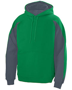 Adult Cotton/Poly Athletic Fleece Hoody with Contrast Inserts