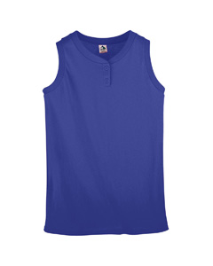 Ladies Sleeveless Two-Button Softbal`Jersey