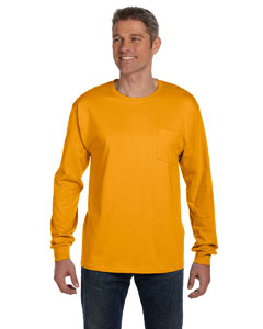 6.1 oz. Tagless® ComfortSoft® Long-Sleeve Pocket T-Shirt