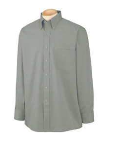 Men's Wrinkle-Resistant Blended Pinpoint Oxford