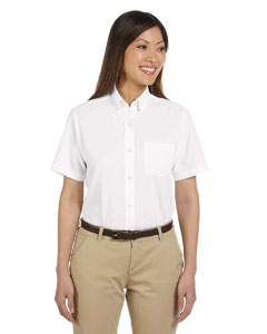 Ladies  Short-Sleeve Wrinkle-Resistant Oxford