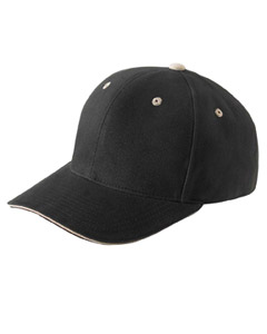 Yupoong Brushed Cotton Twil`6-Pane`Mid-Profile Sandwich Cap