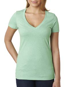 Ladies' CVC Deep V Tee