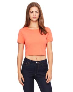 Ladies Poly-Cotton Crop T-Shirt