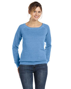 Ladies  8.2 oz. Triblend Slouchy Wide Neck Fleece