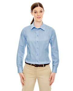 Ladies Yarn-Dyed Wrinkle Resistant Dobby Shirt