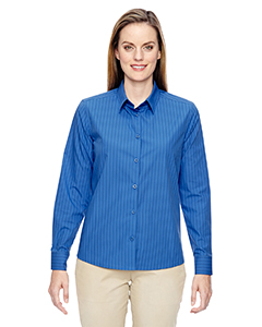 Align Ladies Wrinkle Resistant Cotton Blend Dobby Vertica`Stri