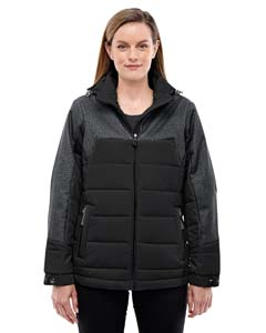Ladies Excursion Meridian Insulated Jacket with Melange Print