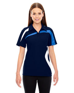 Impact Ladies Performance Polyester Pique Color-Block Polo