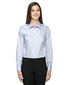 BOULEVARD Ladies Wrinkle Free 2-Ply 80's Cotton Dobyy Shirt