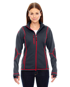 Pulse Ladies Textured Bonded Fleece Jackets With Print
