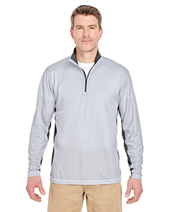 Adult 2-Tone Keyhole Mesh 1/4-Zip Pullover